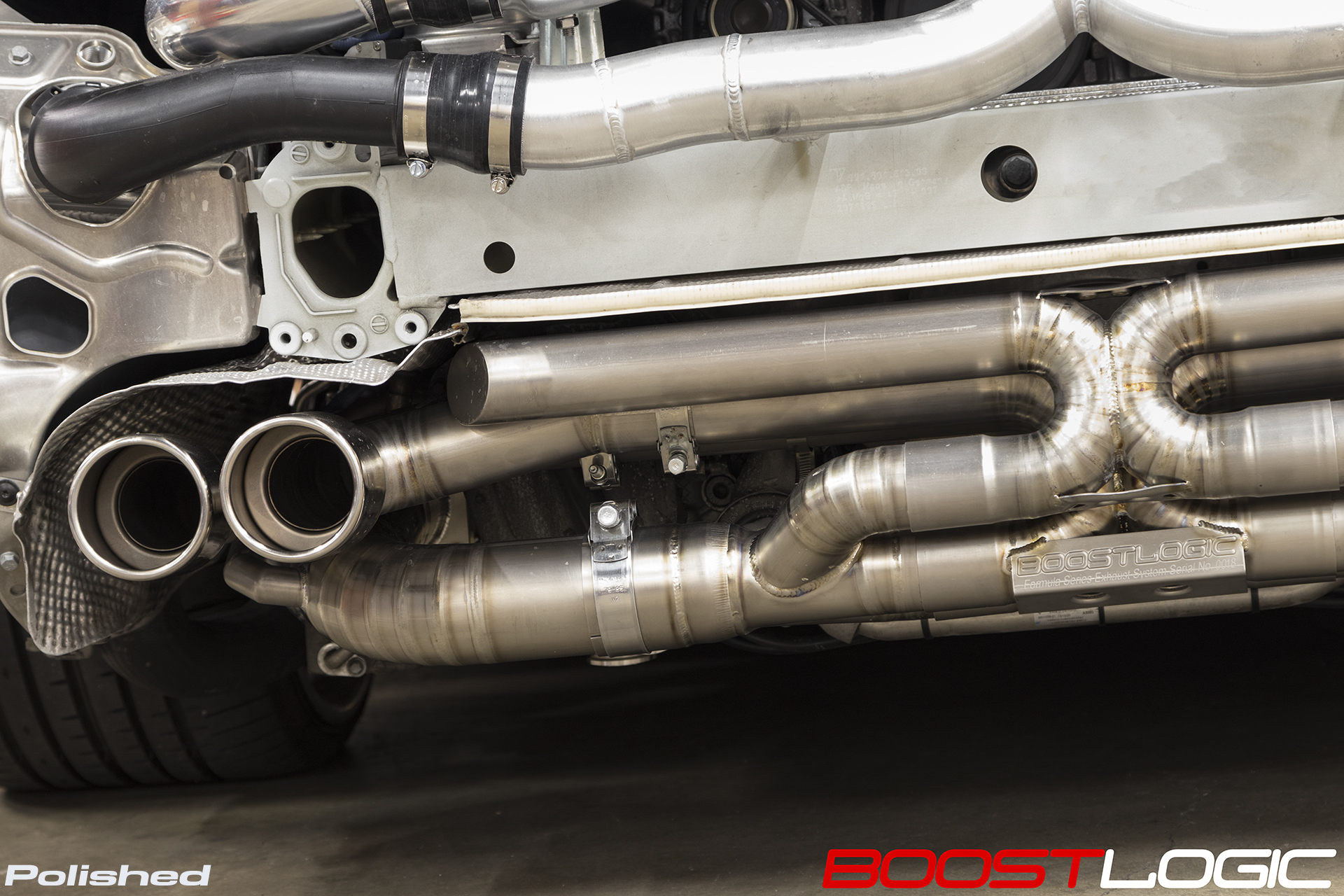 Boost Logic Formula Series Titanium Exhaust 991 Porsche Turbo Boost Logic